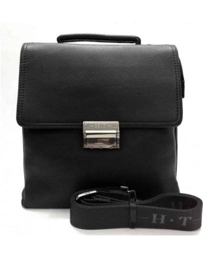 Фотография Мужская кожаная сумка на плечо и в руку 9010-8 BLACK