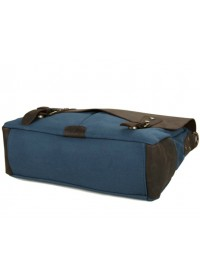 Стильный портфель ткань и кожа модного синего цвета 79013k