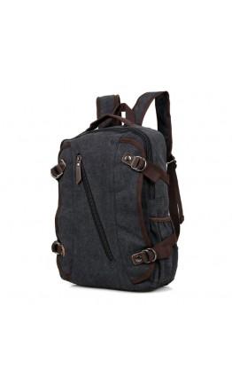 Серо-черный тканевый мужской рюкзак 79037A