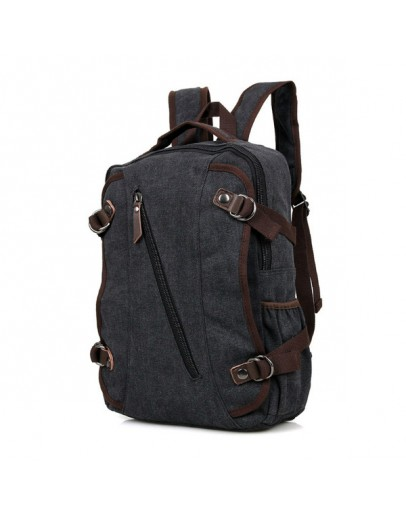 Фотография Серо-черный тканевый мужской рюкзак 79037A