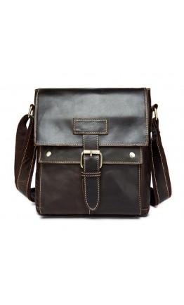 Удобная кожаная коричневая повседневная сумка m9040