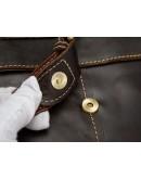 Фотография Удобная кожаная коричневая повседневная сумка m9040