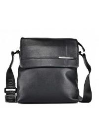 Мужская сумка через плечо кожаная 9112-3-135 BLACK