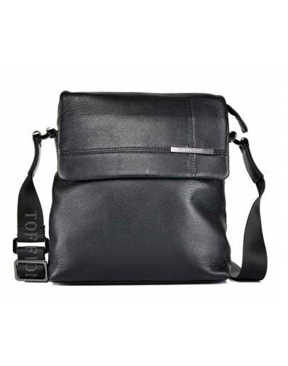 Фотография Мужская сумка через плечо кожаная 9112-3-135 BLACK
