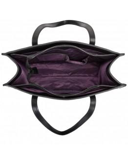 Женская кожаная черная сумка Smith & Canova 92642 Luna (Black)