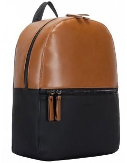 Женский кожаный рюкзак Smith & Canova 92901 Francis (Black-Tan)