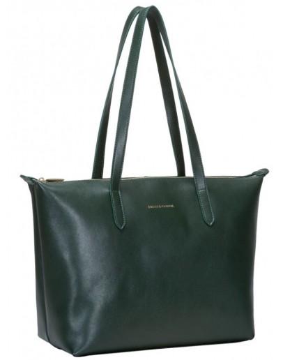 Фотография Кожаная женская сумка Smith & Canova 92904 Cambridge (Green)