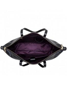 Женская кожаная черная сумка Smith & Canova 92905 Cambridge (Black)