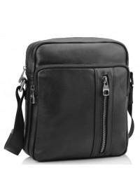 Черная мужская кожаная сумка Tiding Bag 9836A