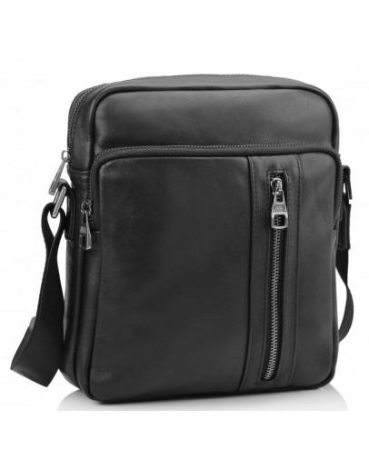 Фотография Черная мужская кожаная сумка Tiding Bag 9836A