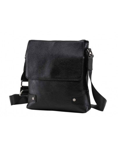 Фотография Черная мужская плечевая сумка A25-033A