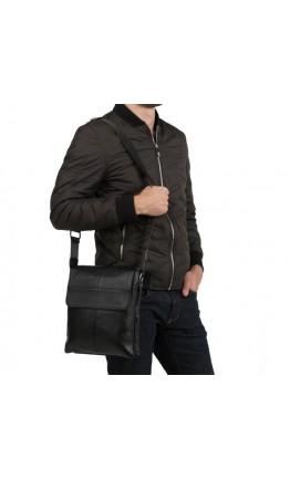 Кожаный мужской мессенджер через плечо A25-064A