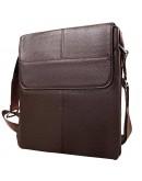 Фотография Удобная мужская коричневая кожаная сумка A25-064C