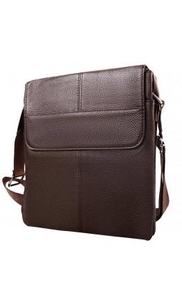 Удобная мужская коричневая кожаная сумка A25-064C