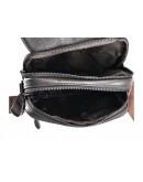 Фотография Темно-коричневая кожаная небольшая сумка A25-1106C