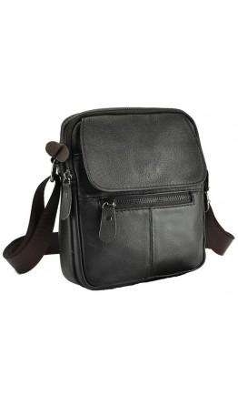 Темно-коричневая кожаная небольшая сумка A25-1106C