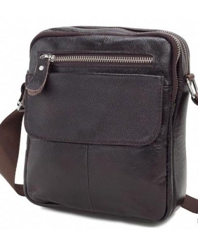 Фотография Мужская плечевая сумка, коричневый цвет A25-1108C