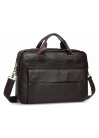Коричневая мужская вместительная сумка для документов A25-1131C
