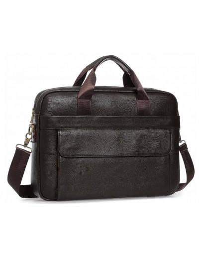 Фотография Коричневая мужская вместительная сумка для документов A25-1131C