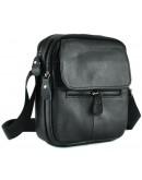 Фотография Мужская черная небольшая сумка на плечо A25-1169A