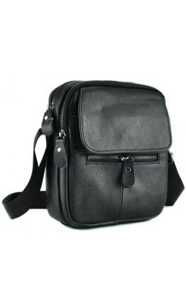 Мужская черная небольшая сумка на плечо A25-1169A
