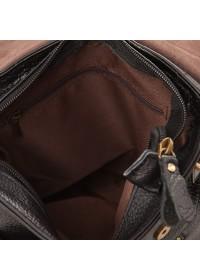 Черная плечевая мужская сумка кожаная A25-1205A