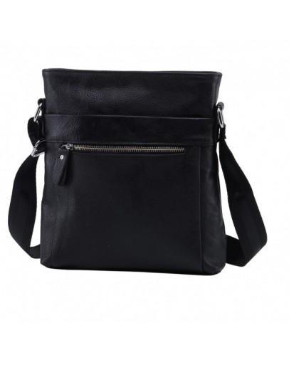 Фотография Черная кожаная сумка - планшетка без клапана A25-1223A