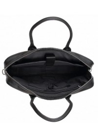 Черная кожаная сумка для документов A25-17611A
