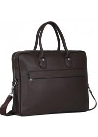 Коричневая кожаная сумка для документов A25-17611C