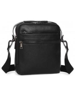 Черная мужская кожаная сумка - барсетка A25-17622-3А