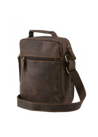 Кожаный коричневый мужской вместительный мессенджер A25-2158R
