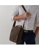 Фотография Кожаный коричневый мужской вместительный мессенджер A25-2158R