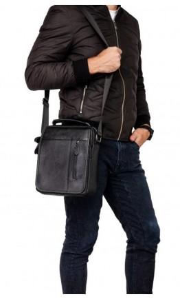 Черная мужская кожаная сумка, для города A25-2158a