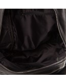 Фотография Рюкзак мужской черный кожаный мягкий A25-333A