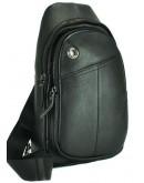 Фотография Черная сумка мужская на плечо - слинг A25-396A