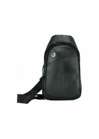 Черная сумка мужская на плечо - слинг A25-396A