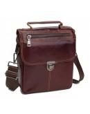 Фотография Бордовая мужская кожаная сумка A25-5567B