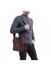 Бордовая мужская кожаная сумка A25-5567B