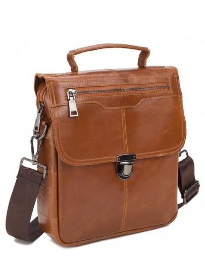 Фотография Рыжая мужская сумка, кожаная A25-5567C