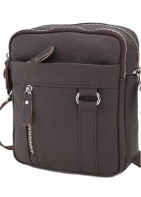 Коричневая сумка мужская на плечо A25-6619C