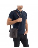 Фотография Коричневая сумка мужская на плечо A25-6619C