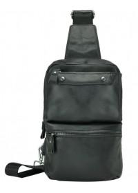 Мужской кожаный черный слинг A25-6801A
