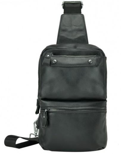 Фотография Мужской кожаный черный слинг A25-6801A