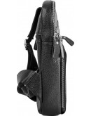 Фотография Рюкзак черный кожаный на одну шлейку A25-6896A