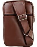 Фотография Рюкзак коричневый кожаный на одну шлейку A25-6896C