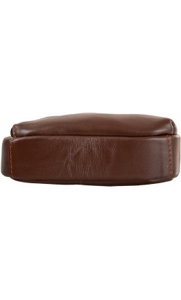 Рюкзак коричневый кожаный на одну шлейку A25-6896C