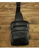 Фотография Мужская кожаная сумка на плечо - слинг A25-8699A