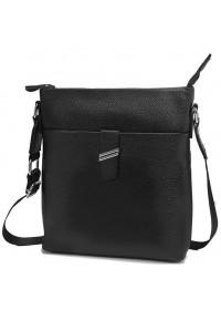 Черная сумка мужская, планшетка на плечо A25-9119A