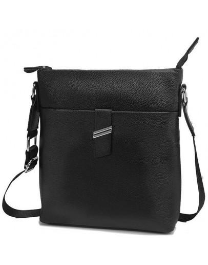 Фотография Черная сумка мужская, планшетка на плечо A25-9119A