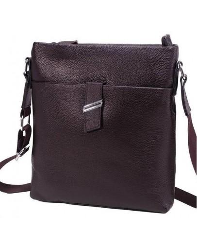Фотография Коричневая сумка мужская, планшетка на плечо A25-9119C